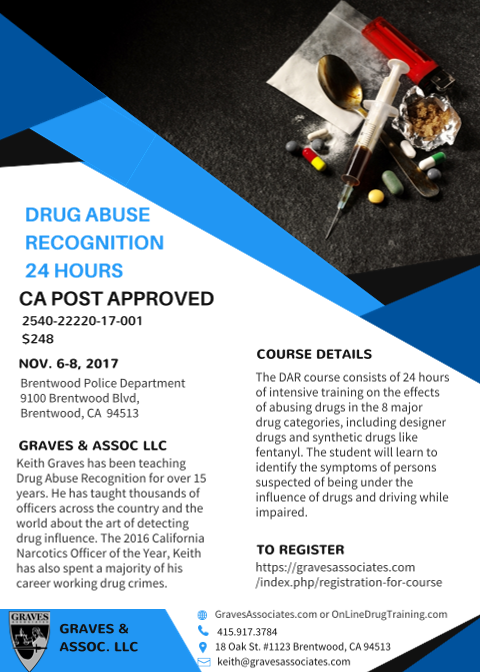 Drug Abuse Recognition-Brentwood CA